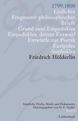 Friedrich  Hölderlin, D. E.  Sattler  (Hrsg.) - Sämtliche Werke, Briefe und Dokumente. Band 8