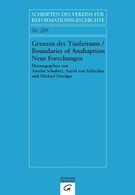 Anselm  Schubert  (Hrsg.), Astrid von Schlachta  (Hrsg.), Michael  Driedger  (Hrsg.) - Grenzen des Täufertums / Boundaries of Anabaptism