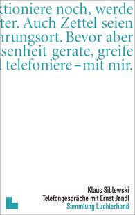 Klaus  Siblewski - Telefongespräche mit Ernst Jandl
