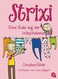 Christine  Fehér - Strixi - Eine Eule auf der Wäscheleine