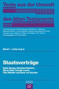 Rykle  Borger  (Autor, Hrsg.), Manfried  Dietrich  (Autor, Hrsg.), Elmar  Edel, Oswald  Loretz  (Autor, Hrsg.), Otto  Rössler, Einar von Schuler, Otto  Kaiser  (Hrsg.), Wilhelmus C.  Delsman  (Hrsg.), Ursula  Kaplony-Heckel  (Hrsg.), Hans Martin  Kümmel  (Hrsg.), Walter W.  Müller  (Hrsg.), Willem H. Ph.  Römer  (Hrsg.) - Staatsverträge