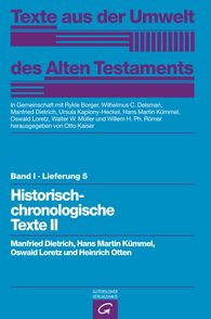 Manfried  Dietrich  (Autor, Hrsg.), Hans Martin  Kümmel  (Autor, Hrsg.), Oswald  Loretz  (Autor, Hrsg.), Heinrich  Otten, Otto  Kaiser  (Hrsg.), Rykle  Borger  (Hrsg.), Wilhelmus C.  Delsman  (Hrsg.), Ursula  Kaplony-Heckel  (Hrsg.), Walter W.  Müller  (Hrsg.), Willem H. Ph.  Römer  (Hrsg.) - Historisch-chronologische Texte II