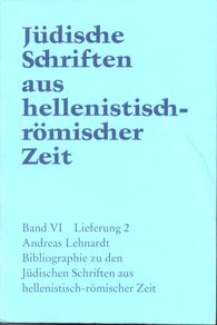 Andreas  Lehnardt - Bibliographie zu den Jüdischen Schriften aus hellenistisch-römischer Zeit