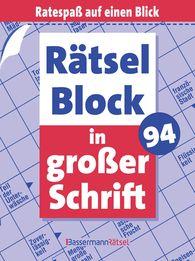 Eberhard  Krüger - Rätselblock in großer Schrift 94