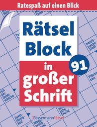 Eberhard  Krüger - Rätselblock in großer Schrift 91 (5 Exemplare à 2,99 €)(5 Exemplare à 2,99 €)