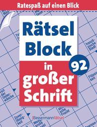 Eberhard  Krüger - Rätselblock in großer Schrift 92 (5 Exemplare à 2,99 €)